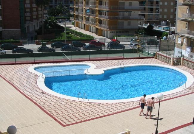 Apartamento en Grao de Gandia - Apartamento para 9 personas a20 mde la playa