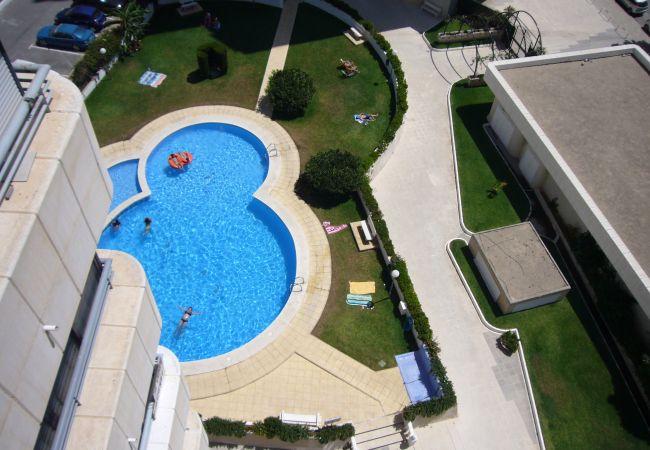 Apartamento en Benidorm - Apartamento con piscina a600 mde la playa